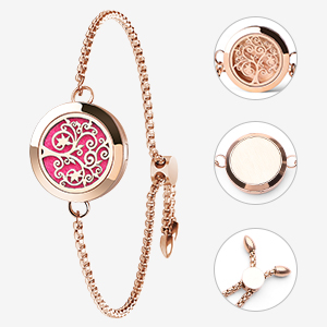 c3fc67b1 f963 46f6 ab4e e571b9db36fd.  CR0,0,300,300 PT0 SX300 V1    - Aromatherapy Essential Oil Diffuser Bracelet - ttstar Rose Gold Stainless Steel Adjustable Women Jewelry Diffuser Bracelet with 24 Refill Pads Gift Se