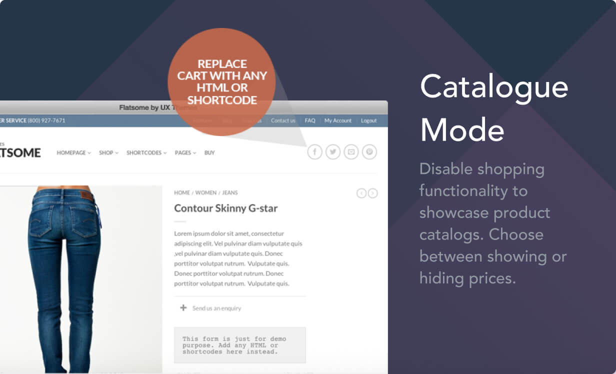 catalogue mode - Flatsome | Multi-Purpose Responsive WooCommerce Theme
