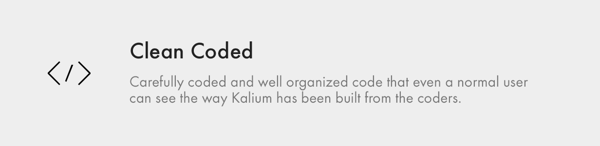 clean coded - Kalium - Creative Theme for Professionals