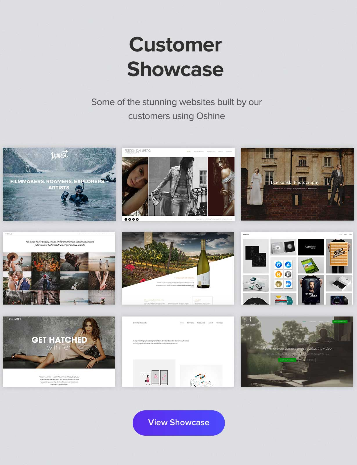 customer showcase - Oshine - Multipurpose Creative WordPress Theme