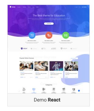 demo react - Education WordPress Theme | Eduma