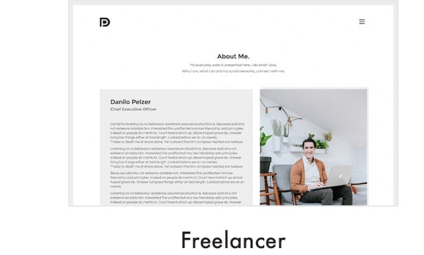 demo 14 - Kalium - Creative Theme for Professionals