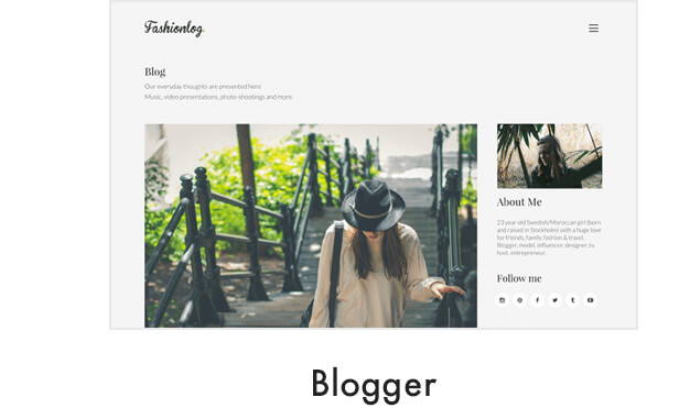 demo blogger - Kalium - Creative Theme for Professionals