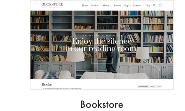 demo bookstore - Kalium - Creative Theme for Professionals