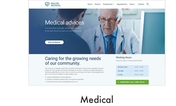 demo medical - Kalium - Creative Theme for Professionals
