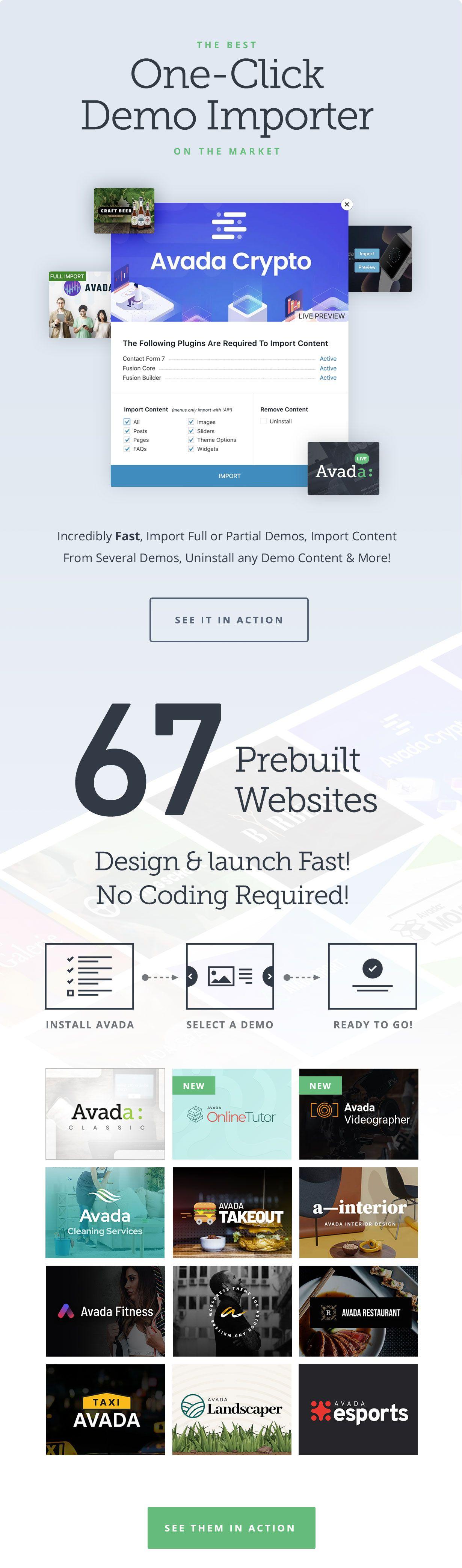 demoimporter itempage 67demos - Avada   Website Builder For WordPress & WooCommerce