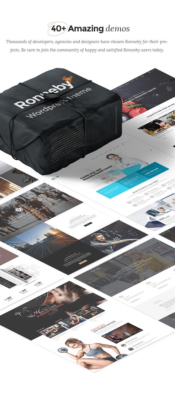 demos new - Ronneby - High-Performance WordPress Theme