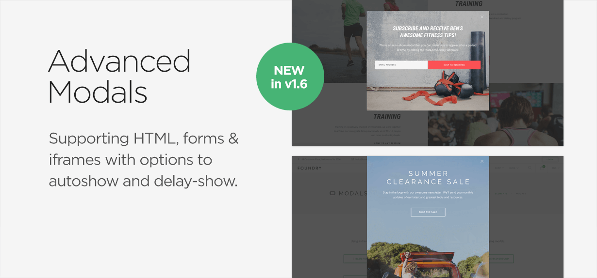 f promo2 - Foundry Multipurpose HTML + Variant Page Builder