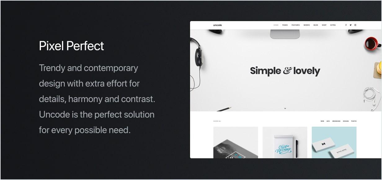 feature pixel perfect min - Uncode - Creative Multiuse WordPress Theme