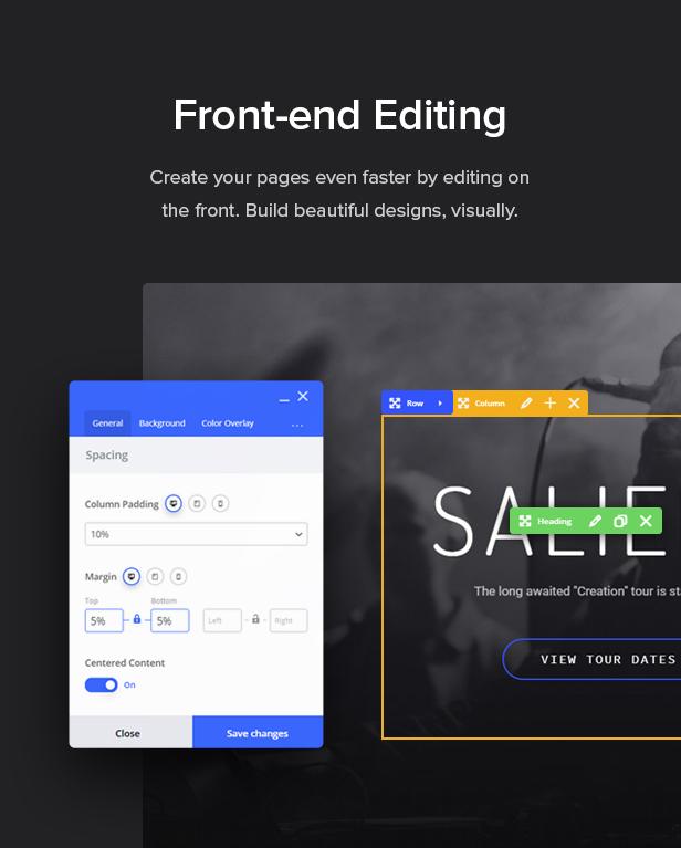 front end editor - Salient - Responsive Multi-Purpose Theme