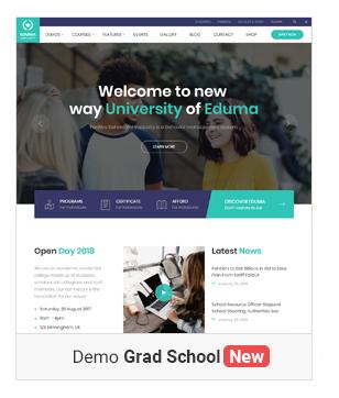 gradschool demonew - Education WordPress Theme | Eduma