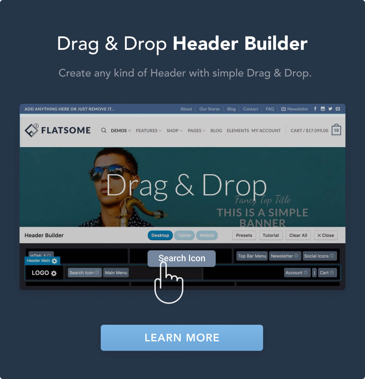 header drag drop - Flatsome | Multi-Purpose Responsive WooCommerce Theme