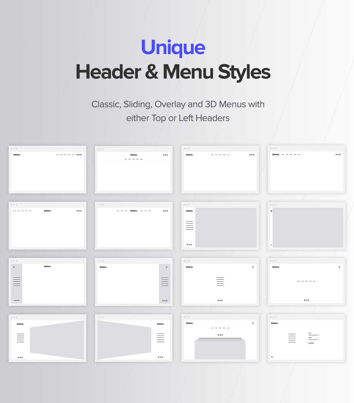 header menu styles - Oshine - Multipurpose Creative WordPress Theme