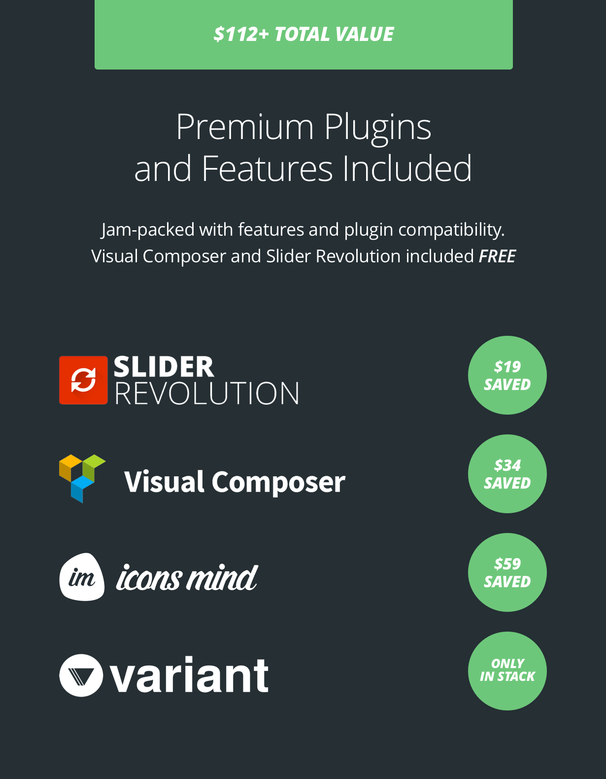 inclusions - Stack - Multi-Purpose WordPress Theme with Variant Page Builder & Visual Composer