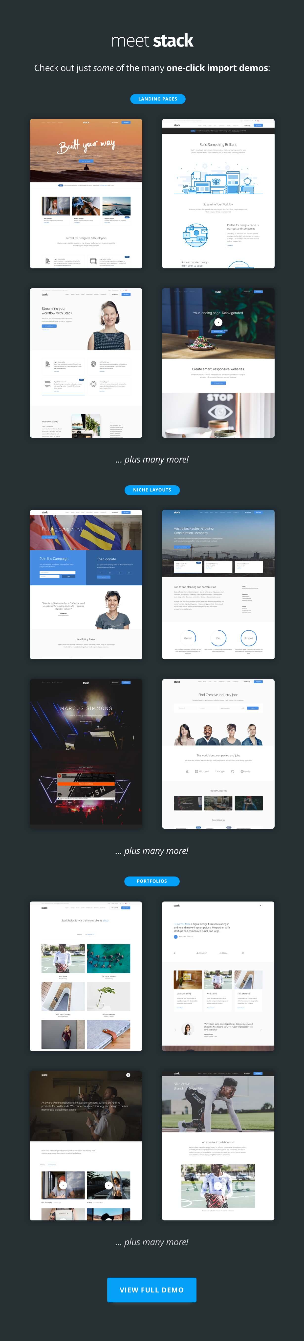 layout previews - Stack - Multi-Purpose WordPress Theme with Variant Page Builder & Visual Composer