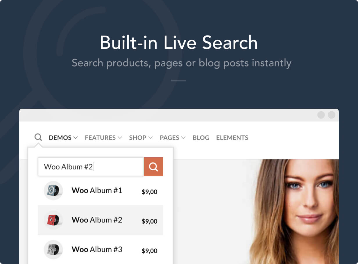 live search - Flatsome | Multi-Purpose Responsive WooCommerce Theme