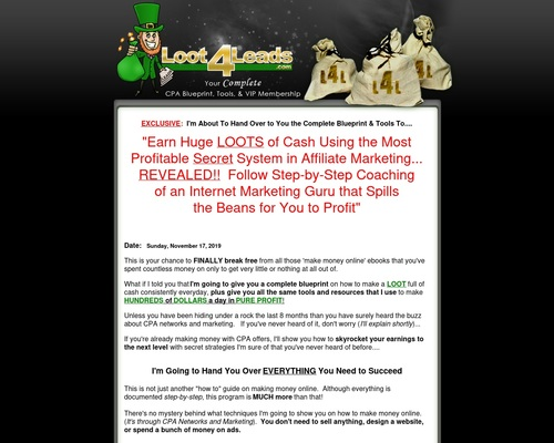 loot4leads x400 thumb - Make Money with CPA Offers - How to Earn with CPA Networks