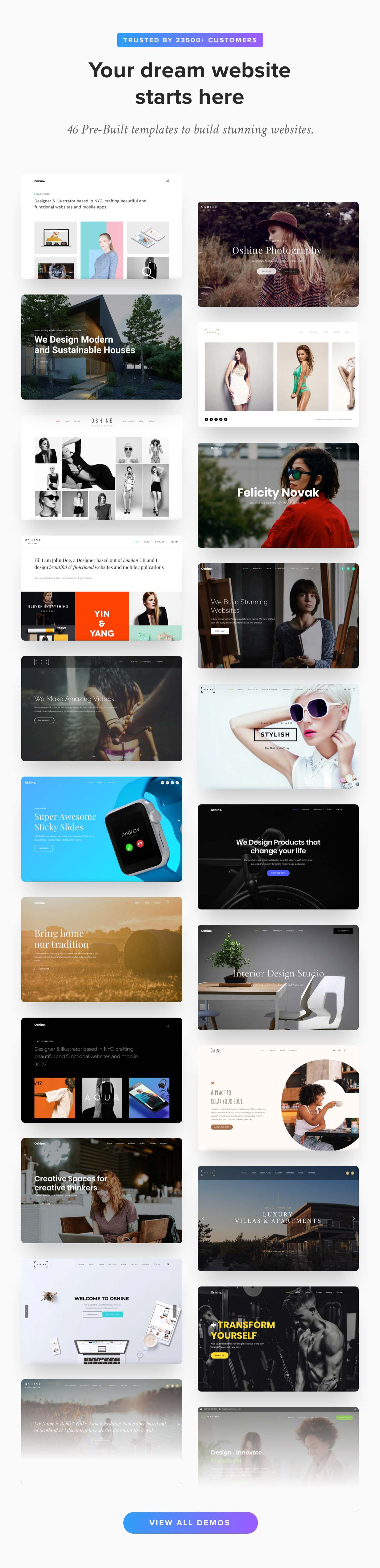 main oshine splash - Oshine - Multipurpose Creative WordPress Theme