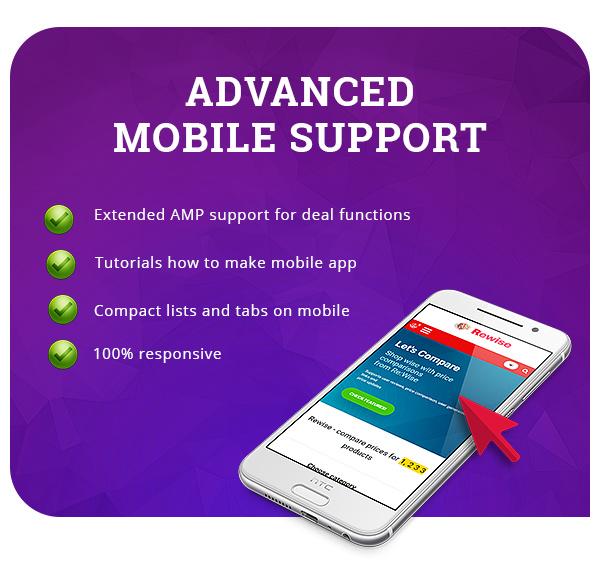 mobile theme wp - REHub - Price Comparison, Multi Vendor Marketplace, Affiliate Marketing, Community Theme