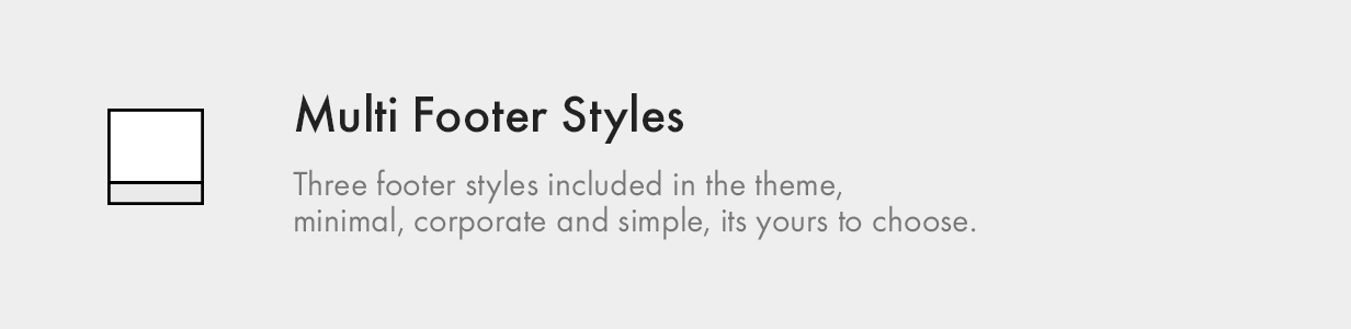 multi footer styles - Kalium - Creative Theme for Professionals