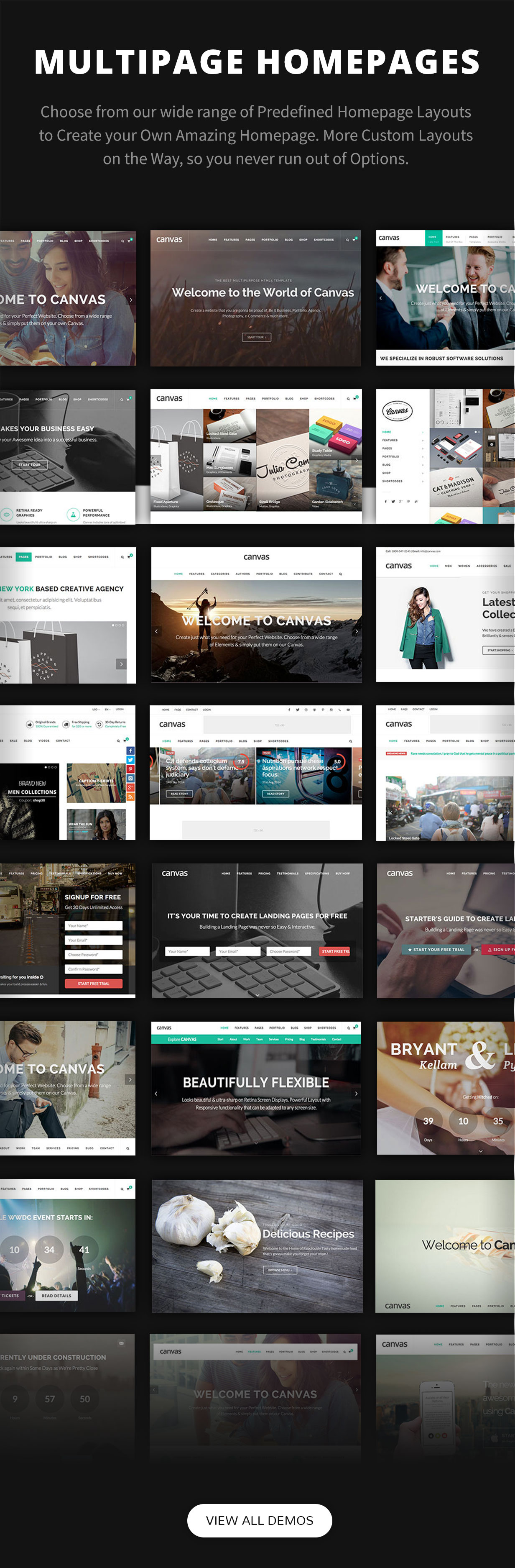 multiple pages - Canvas   The Multi-Purpose HTML5 Template