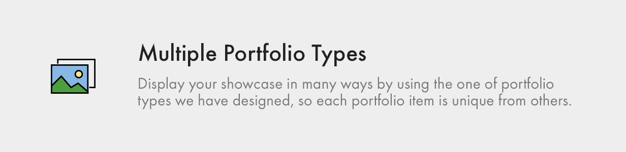 multiple portfolio types - Kalium - Creative Theme for Professionals
