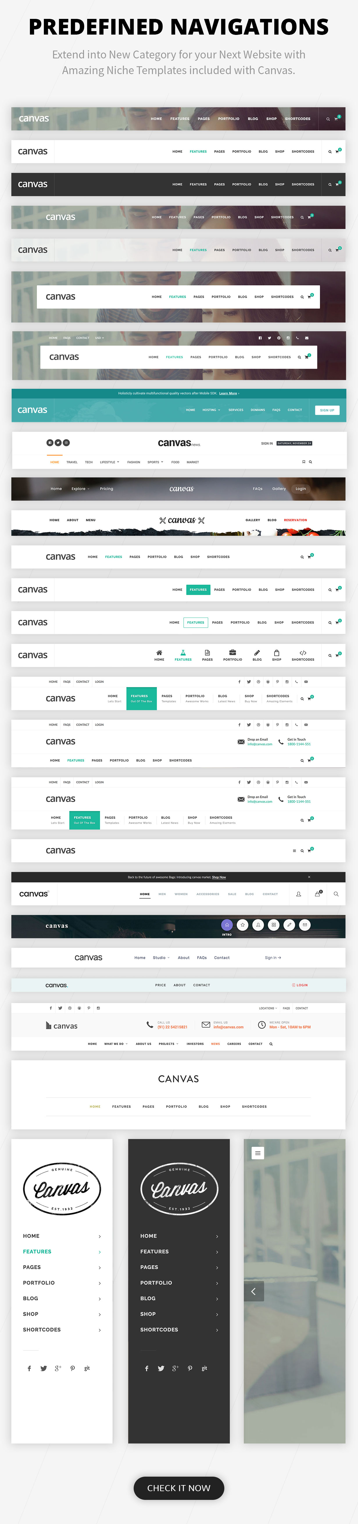 navigations new - Canvas | The Multi-Purpose HTML5 Template