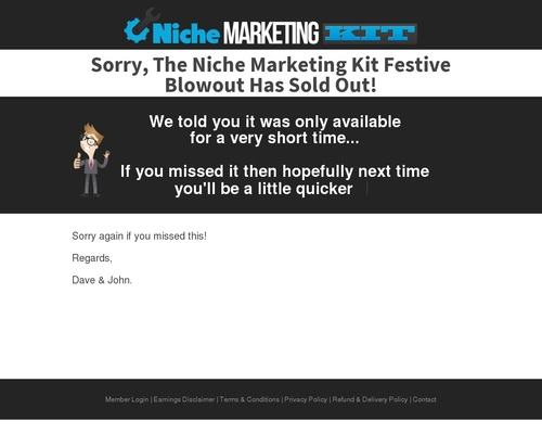 nicmarkit x400 thumb - The Niche Marketing Kit - Massive Blowout! — Niche Marketing Kit