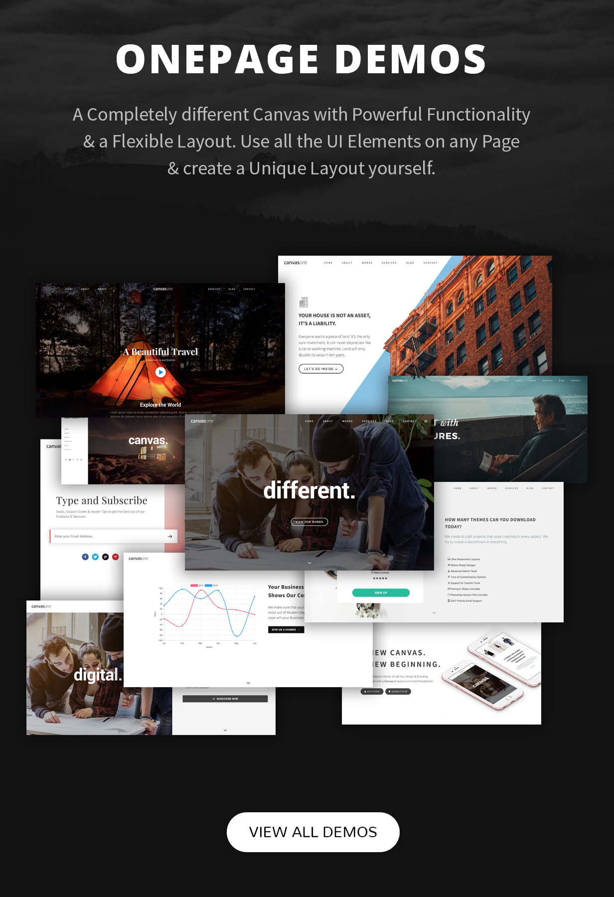one pages - Canvas   The Multi-Purpose HTML5 Template