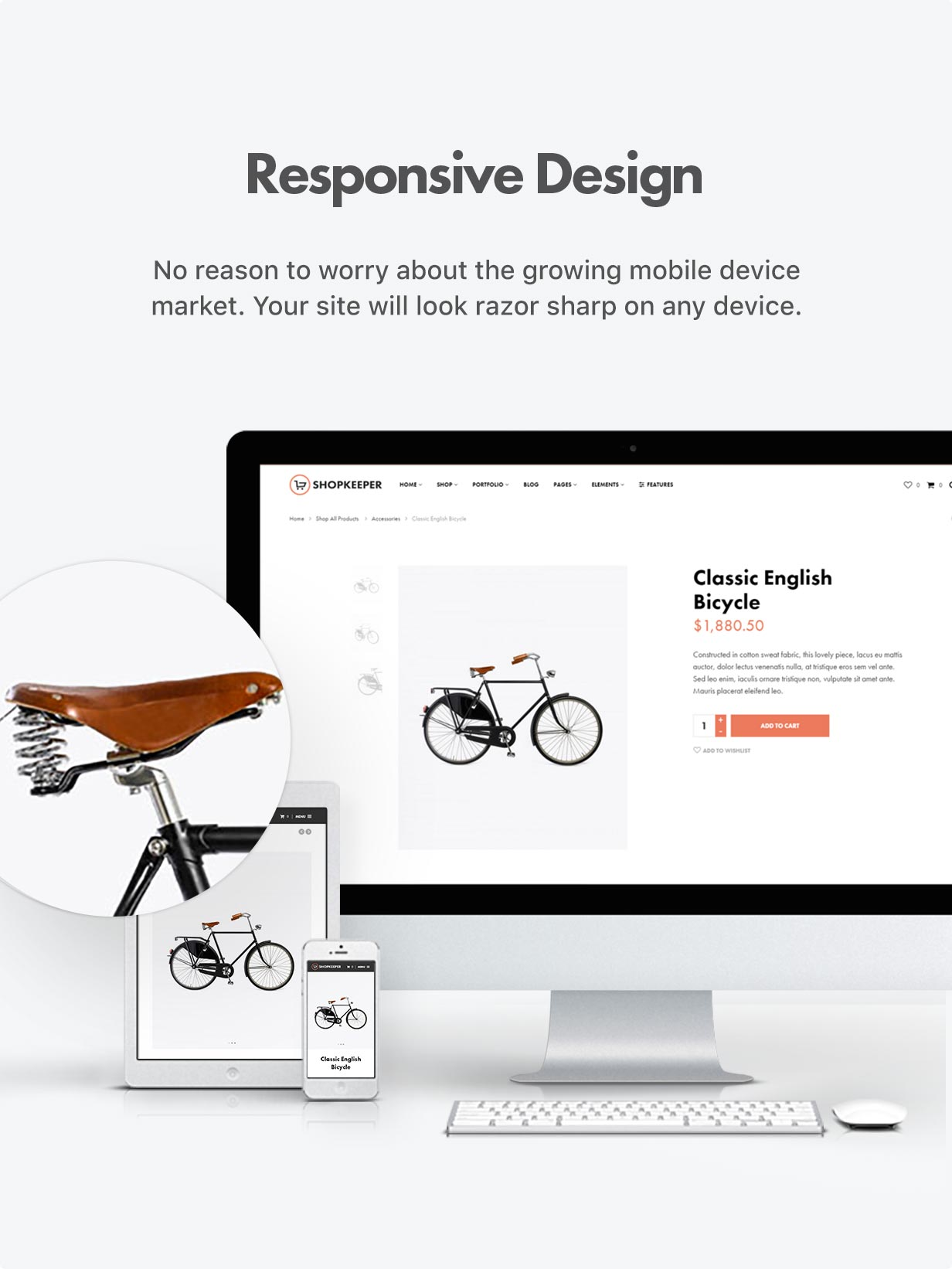 responsive design optimized - Shopkeeper - eCommerce WordPress Theme for WooCommerce