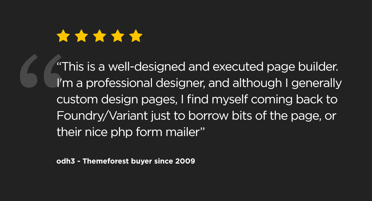 review3 - Foundry Multipurpose HTML + Variant Page Builder