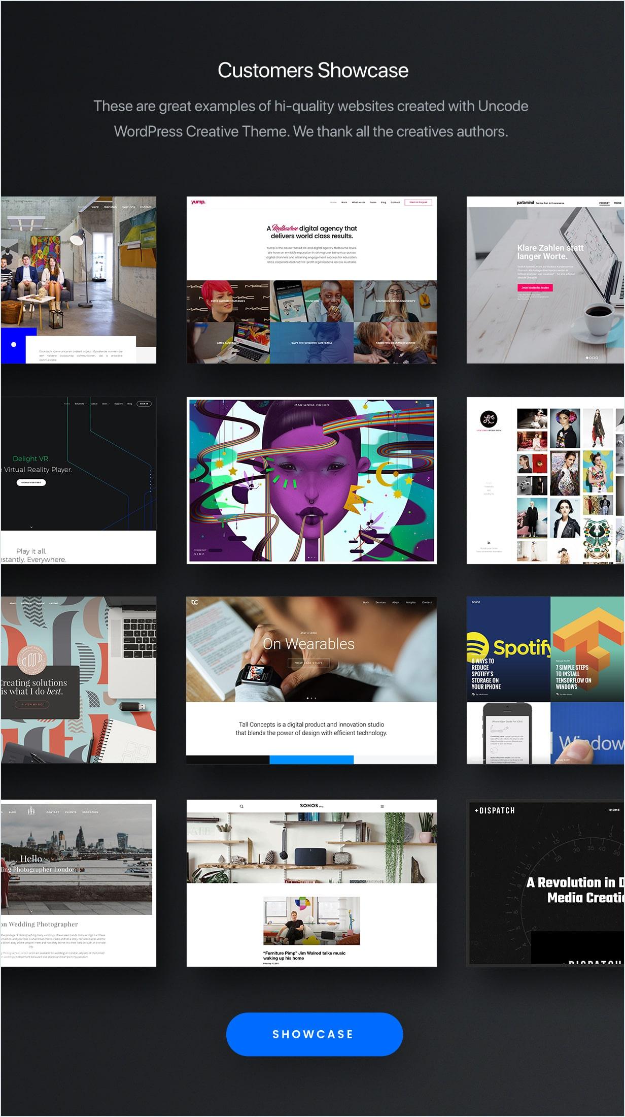 showcase min - Uncode - Creative Multiuse WordPress Theme
