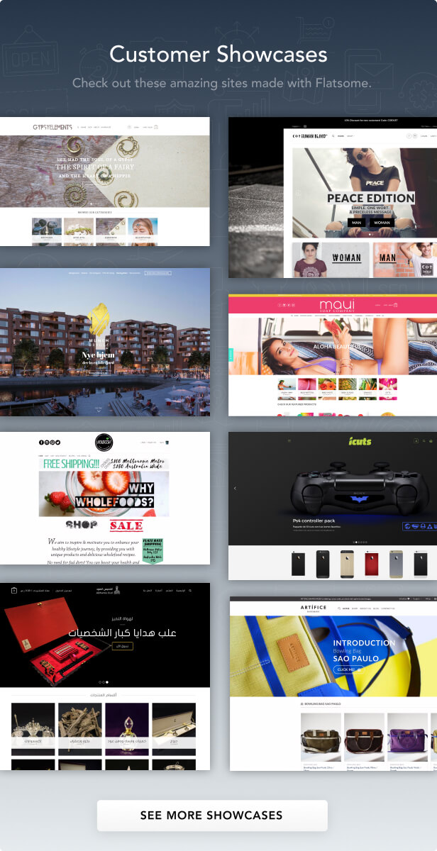 showcase - Flatsome | Multi-Purpose Responsive WooCommerce Theme