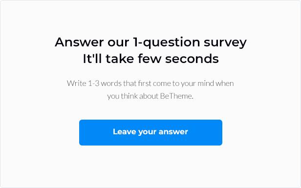 survey 2151 - BeTheme - Responsive Multi-Purpose WordPress Theme