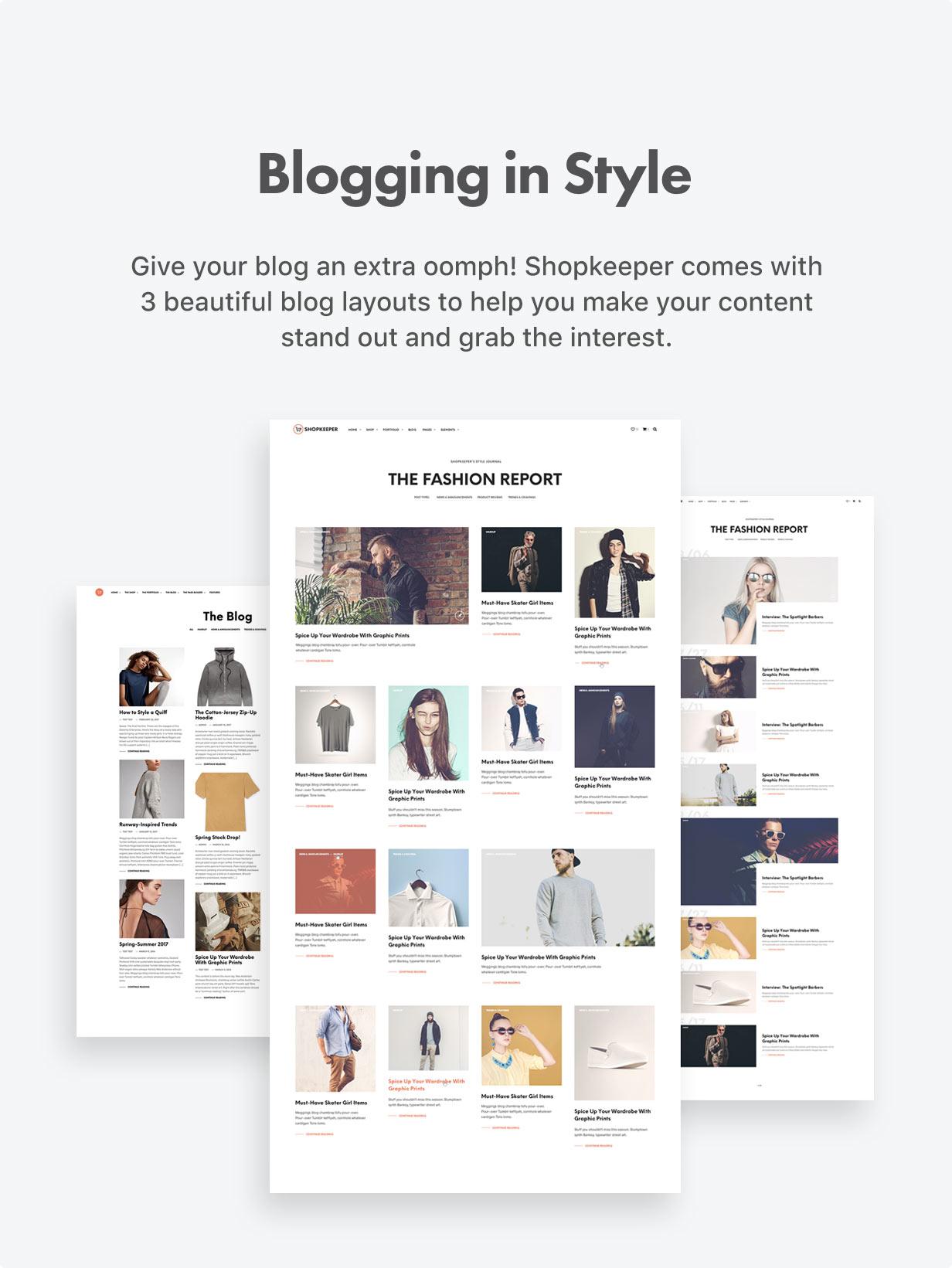the blog optimized - Shopkeeper - eCommerce WordPress Theme for WooCommerce