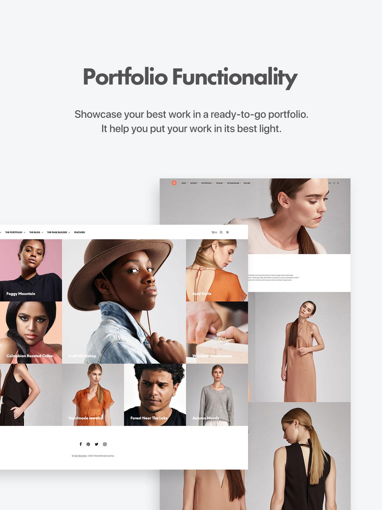 the portfolio optimized - Shopkeeper - eCommerce WordPress Theme for WooCommerce