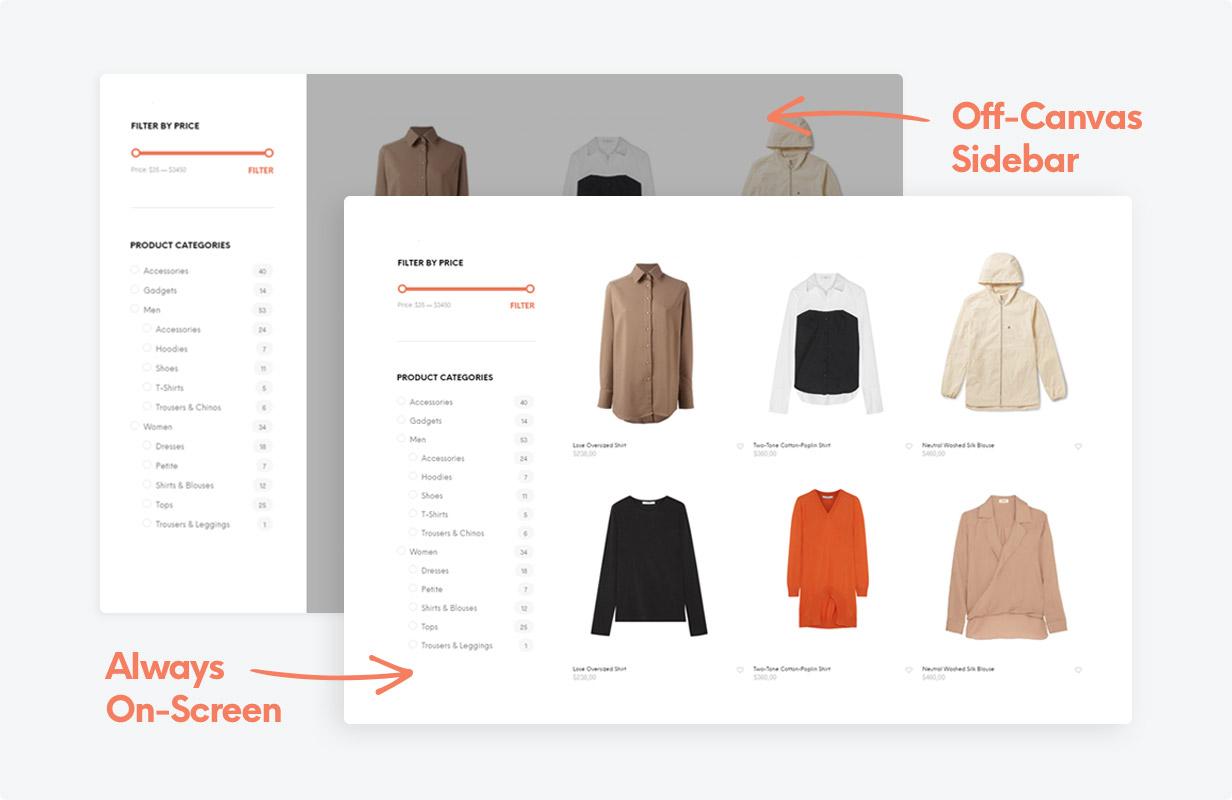 the shop sidebar - Shopkeeper - eCommerce WordPress Theme for WooCommerce