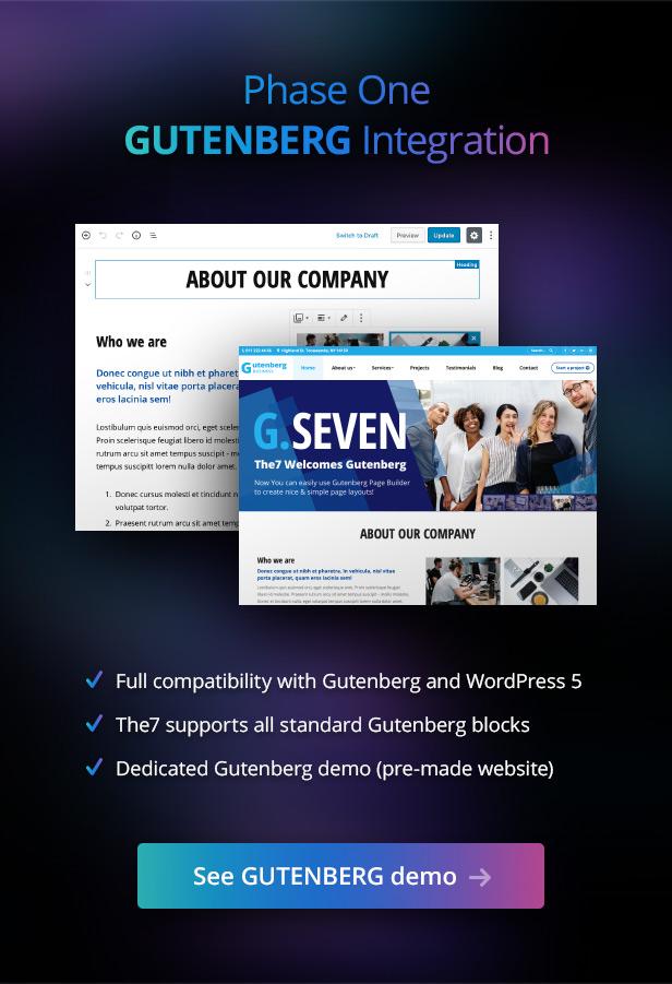 the7 gutenberg 09.12.18 - The7 — Multi-Purpose Website Building Toolkit for WordPress