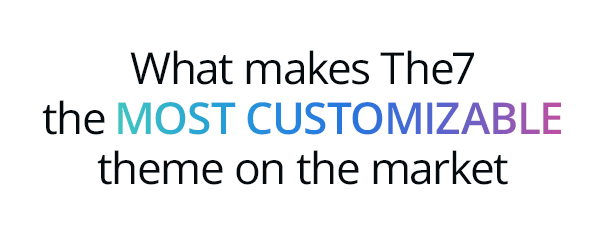 the7 title customizable 31.10.18 - The7 — Multi-Purpose Website Building Toolkit for WordPress