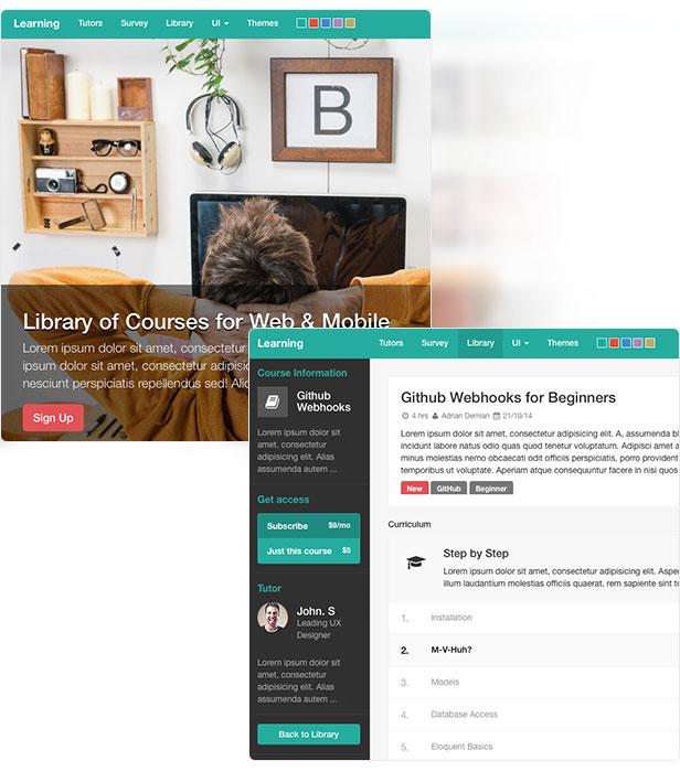theme learning - ThemeKit - Bootstrap Admin Theme Kit