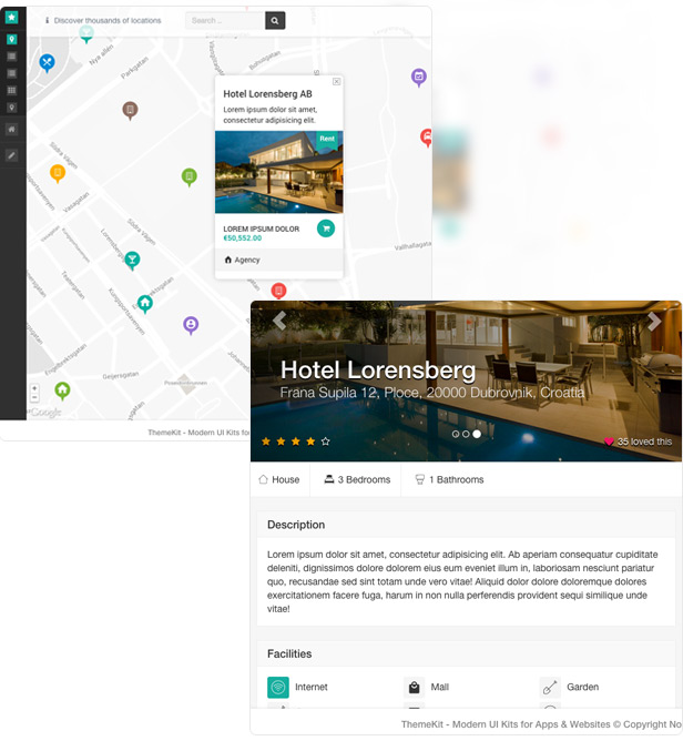 theme real estate - ThemeKit - Bootstrap Admin Theme Kit