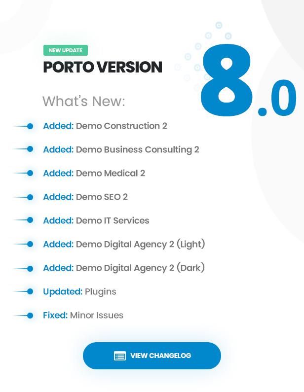 theme updates 8 0 - Porto - Responsive HTML5 Template