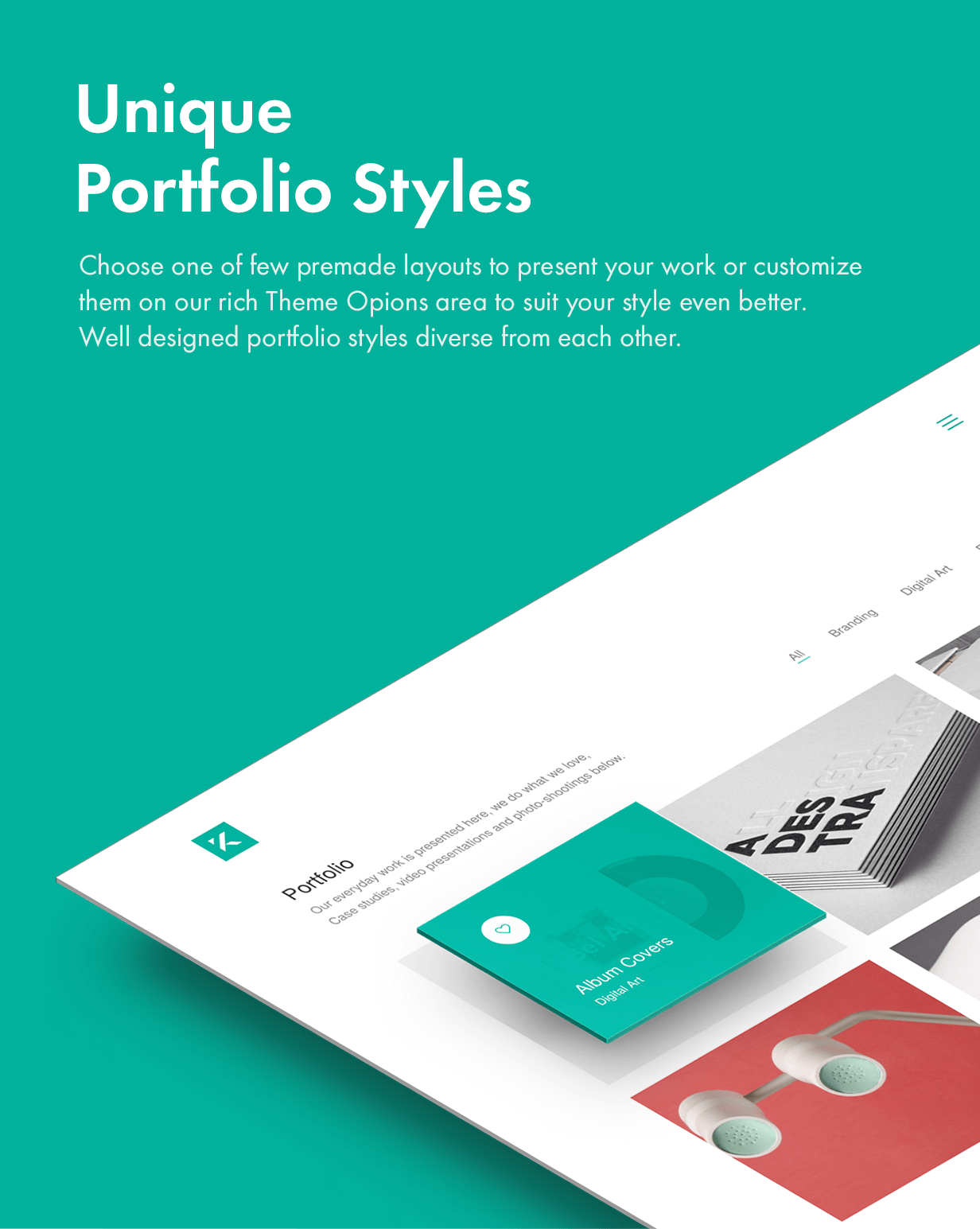 unique portfolio styles - Kalium - Creative Theme for Professionals