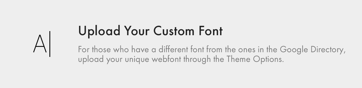 upload your custom font - Kalium - Creative Theme for Professionals