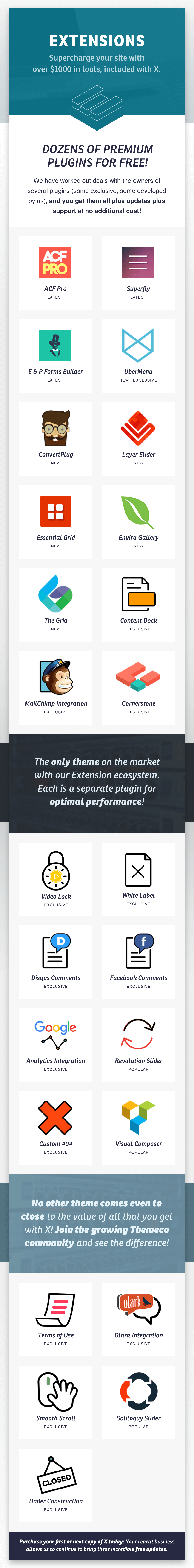 v6 extensions3 - X | The Theme