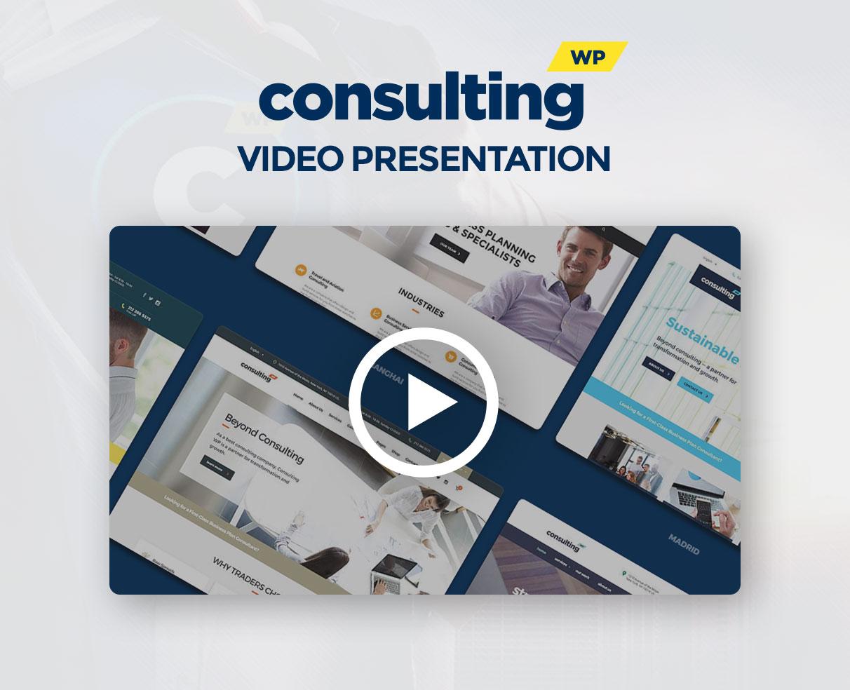 video presentation - Consulting - Business, Finance WordPress Theme
