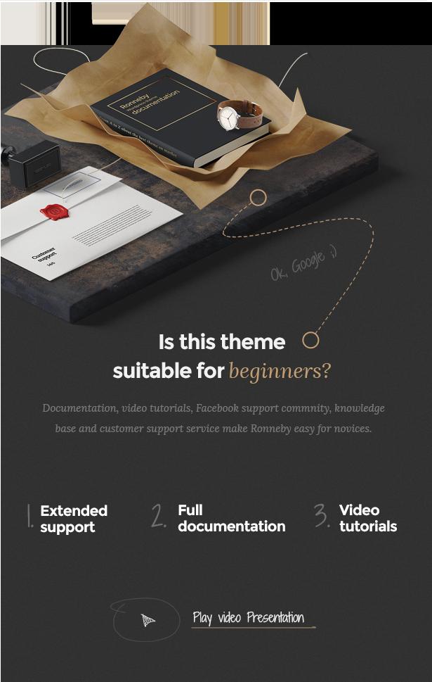 video presentation - Ronneby - High-Performance WordPress Theme