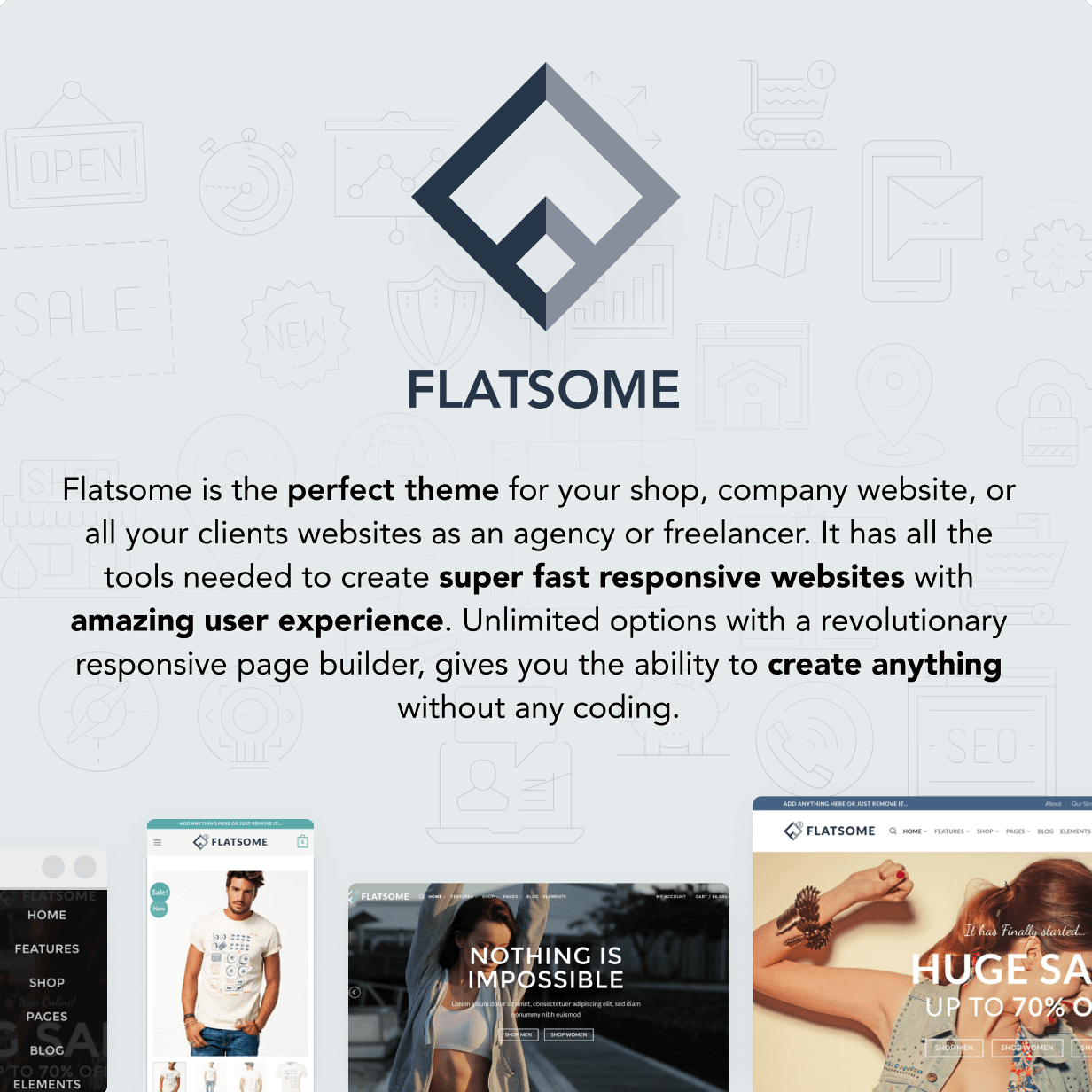 welcome to flatsome - Flatsome | Multi-Purpose Responsive WooCommerce Theme