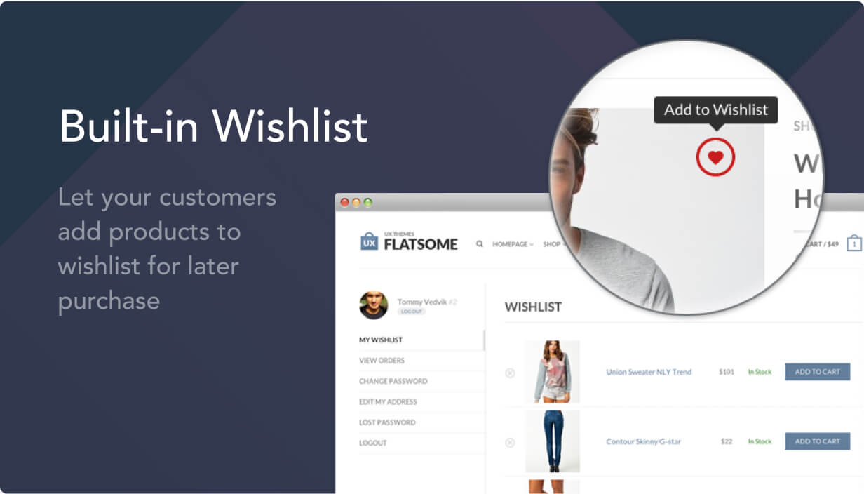 wish list - Flatsome | Multi-Purpose Responsive WooCommerce Theme