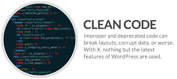 x feature small clean code - X | The Theme